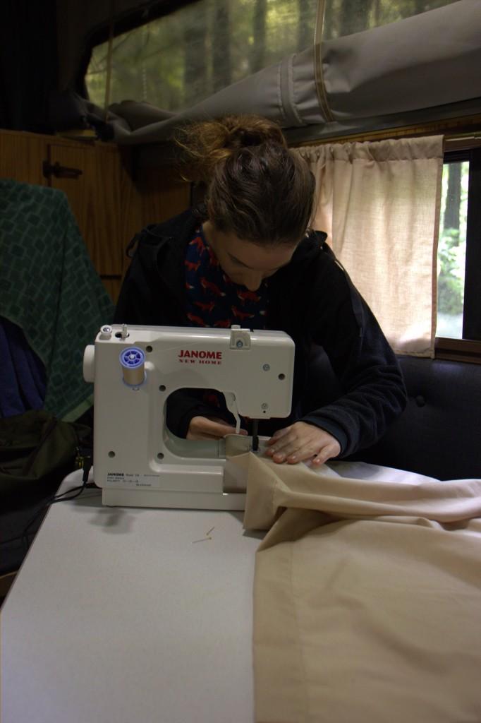 Janina's making new curtains