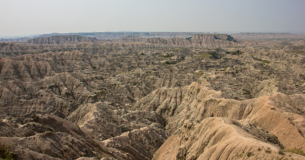 The roughest parts of the Badlands.