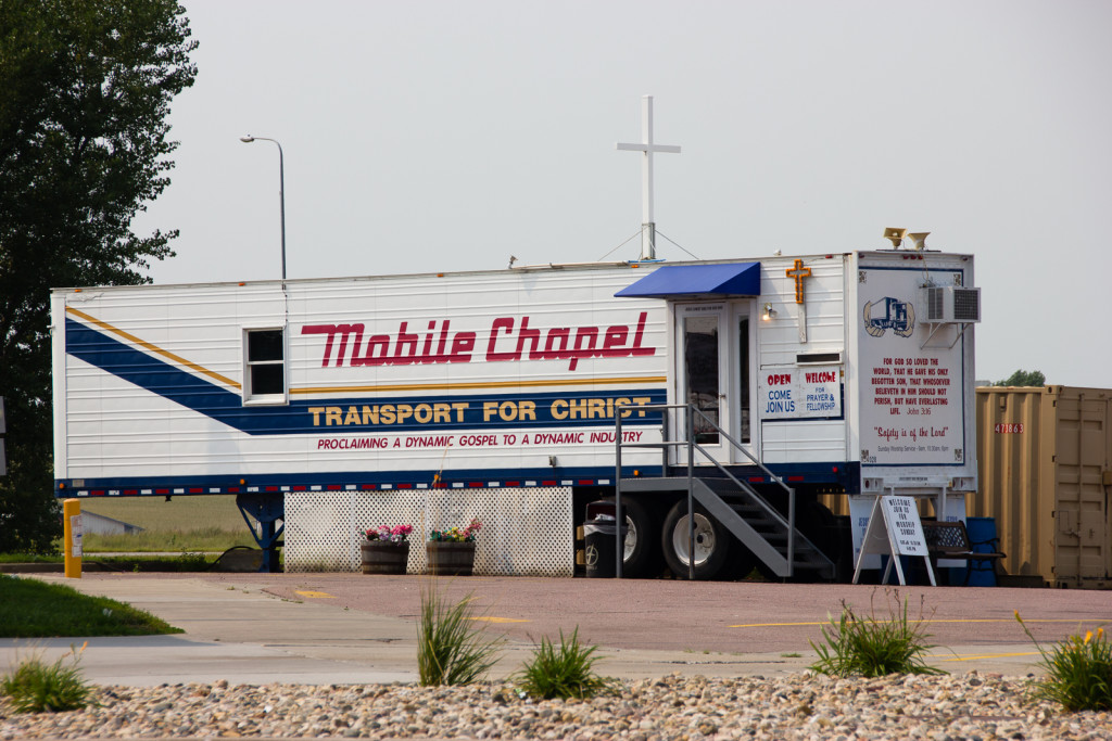 Another mobile chapel we saw at a truck stop.
