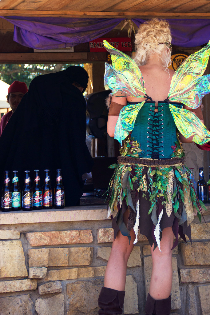 Renaissance fair visitor.